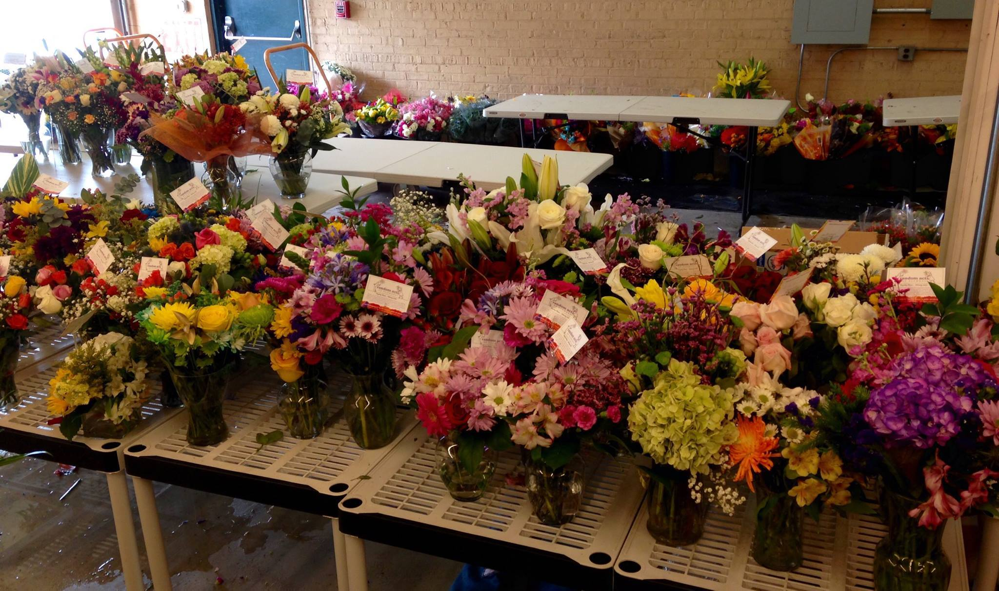 Random Acts of Flowers Re Purposes Flowers from International Floriculture Ex